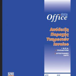 Απόδειξη παροχής υπηρεσιών (Ιnvoice)1ΦΠΑ 50x3 19x20